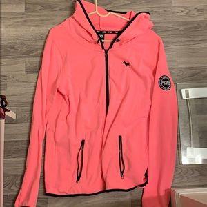 PINK zip up hoodie sweatshirt